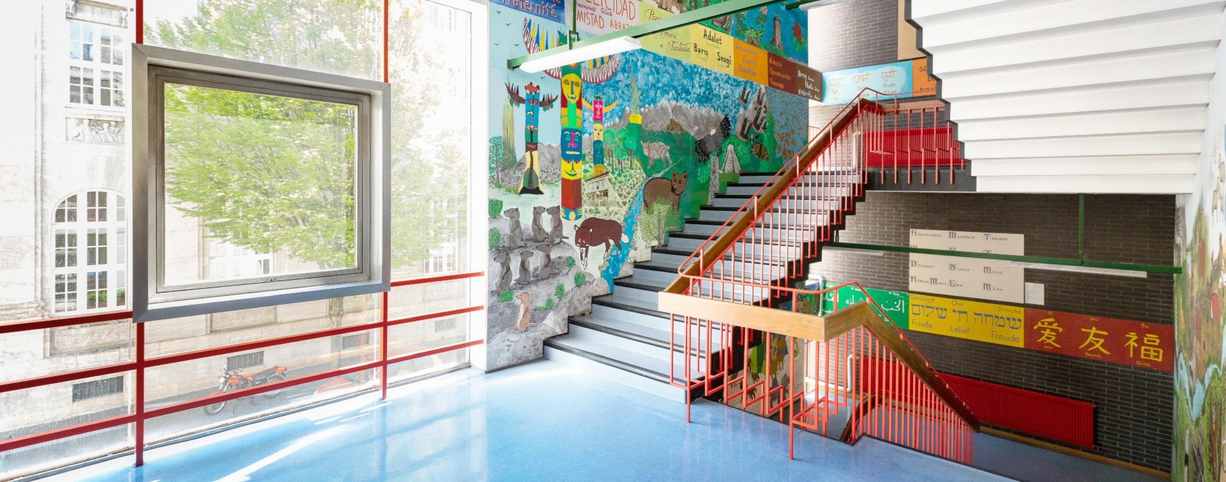 Mozartschule Treppenhaus